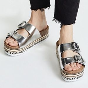 Sam Edelman Oakley Platform Metallic Sandals